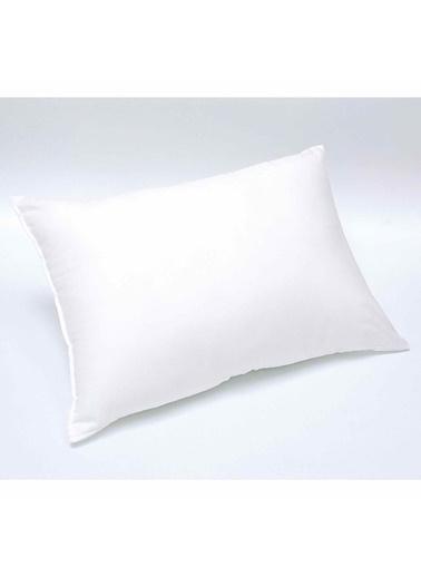 Linens Boncuk Elyaf Yastık Beyaz
